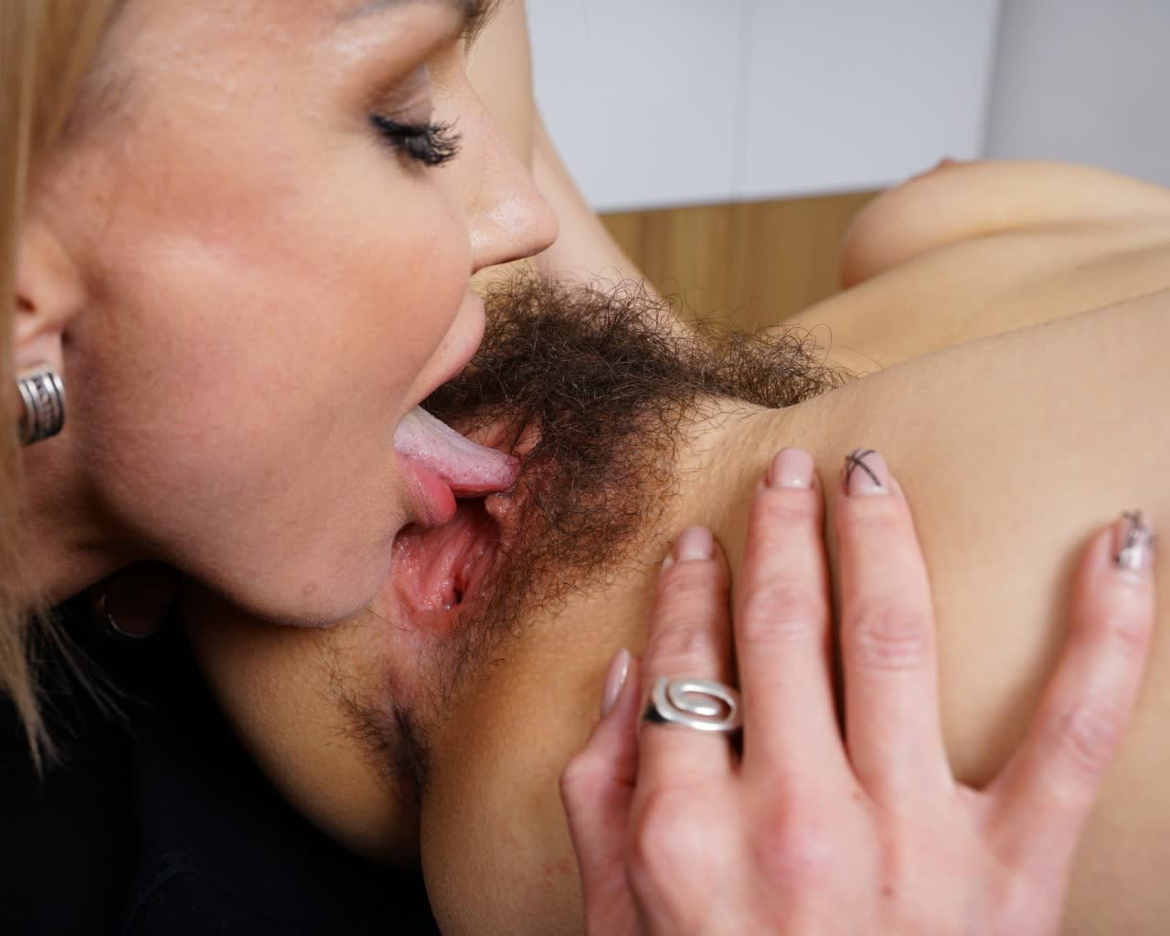 Juicy cock ready for blowjob